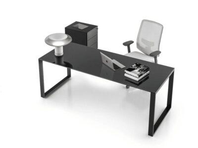 Gus – Ring Leg Glass Executive Desk