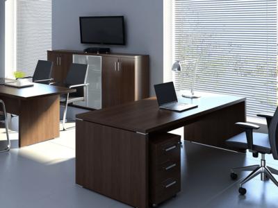 Pietro – Wood Finish Executive Desk 6