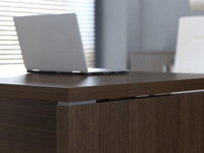 Pietro – Wood Finish Executive Desk 8