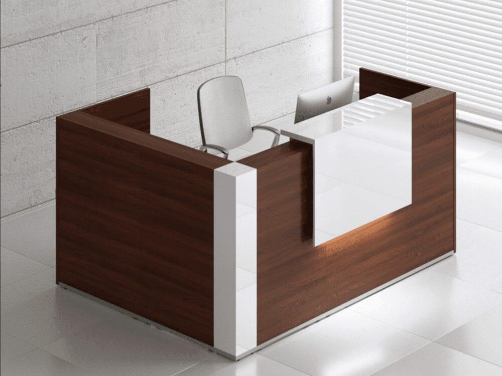 Andreas 8 – Reception Desk Enclosed Unit