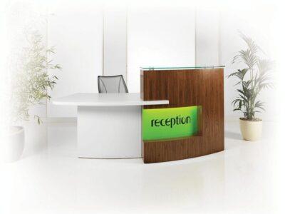 Safa 2 – Reception Desk in Brown Orleans Oak