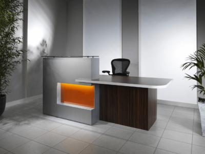 Reception Desk In Westminster Oak With Black Front–alec 1 10