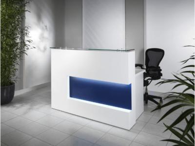 Reception Desk In Westminster Oak With Black Front–alec 1 4