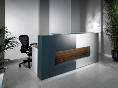 Reception Desk In Westminster Oak With Black Front–alec 1 7