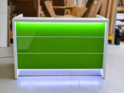 Reception Desk In White With Led Illumination–altair At 2 Main Image