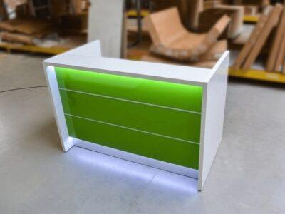 Alba 2 – Reception Desk in White with LED Illumination