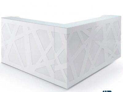 Renzo – Reception Desk with Changeable Coloured Fronts