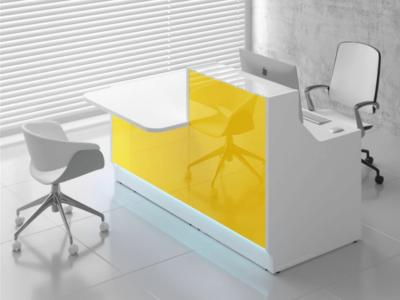 Reception Desk With Dda Counter–adonis Ad 33 34 Lin 33p Yellow