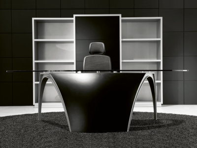 Reception Desk With Leather Finishes–suno Black2