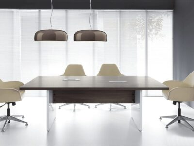 Cove – Rectangle Meeting Table in Dark Sycamore