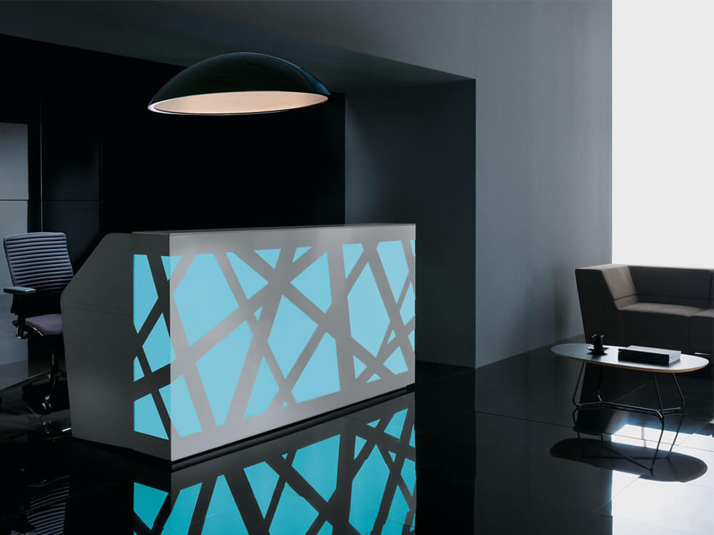Renzo 2 – Reception Desk With Multi Coloured Front Lights