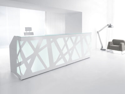 Renzo 2 – Reception Desk With Multi Coloured Front Lights1