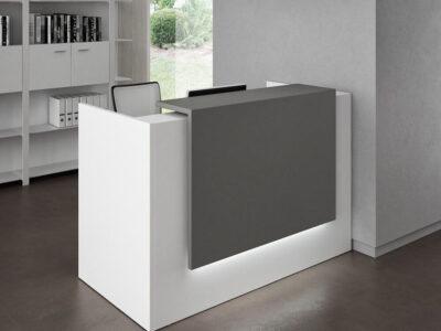 Roman 1 – Straight Reception Desk In White.