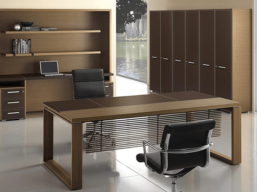 Ryder – Executive Desk with Leather Details
