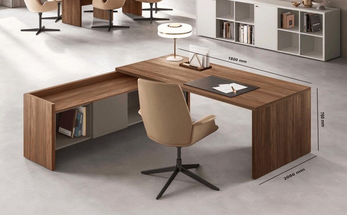 Seoul – Woodside Executive Desk with Wall Unit