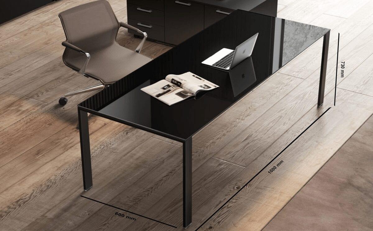 Alexia – U-Leg Glass Executive Desk
