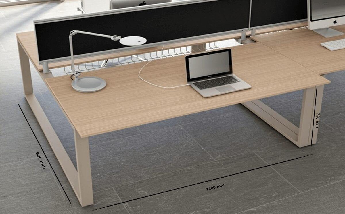 Grace – Straight Ring Leg Operating Desk