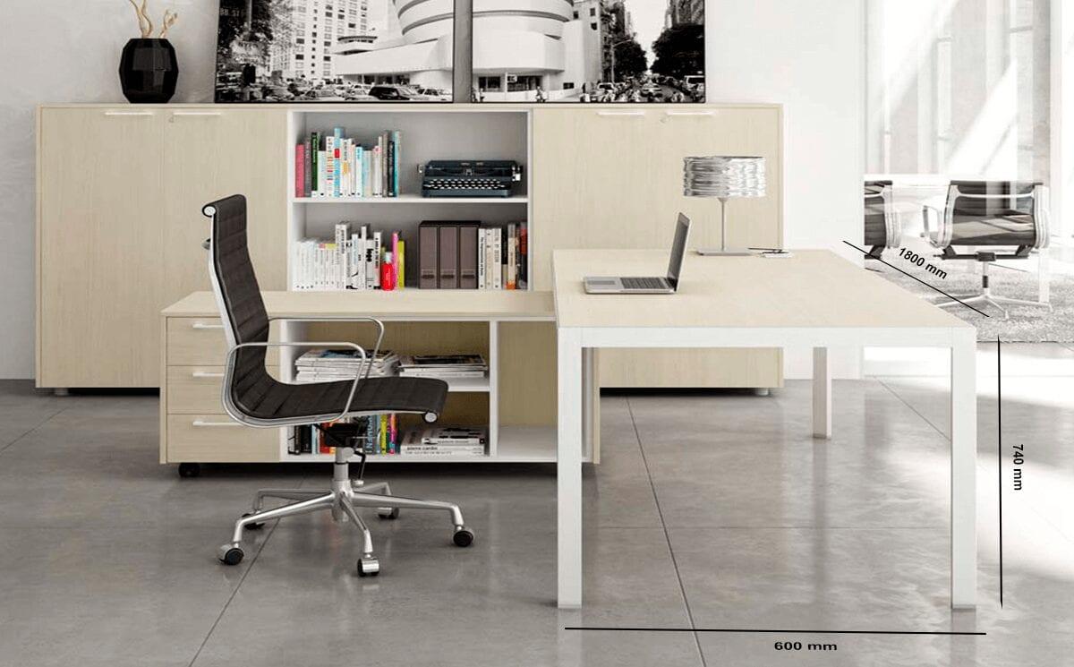 Esme – Silver Frame Executive Desk
