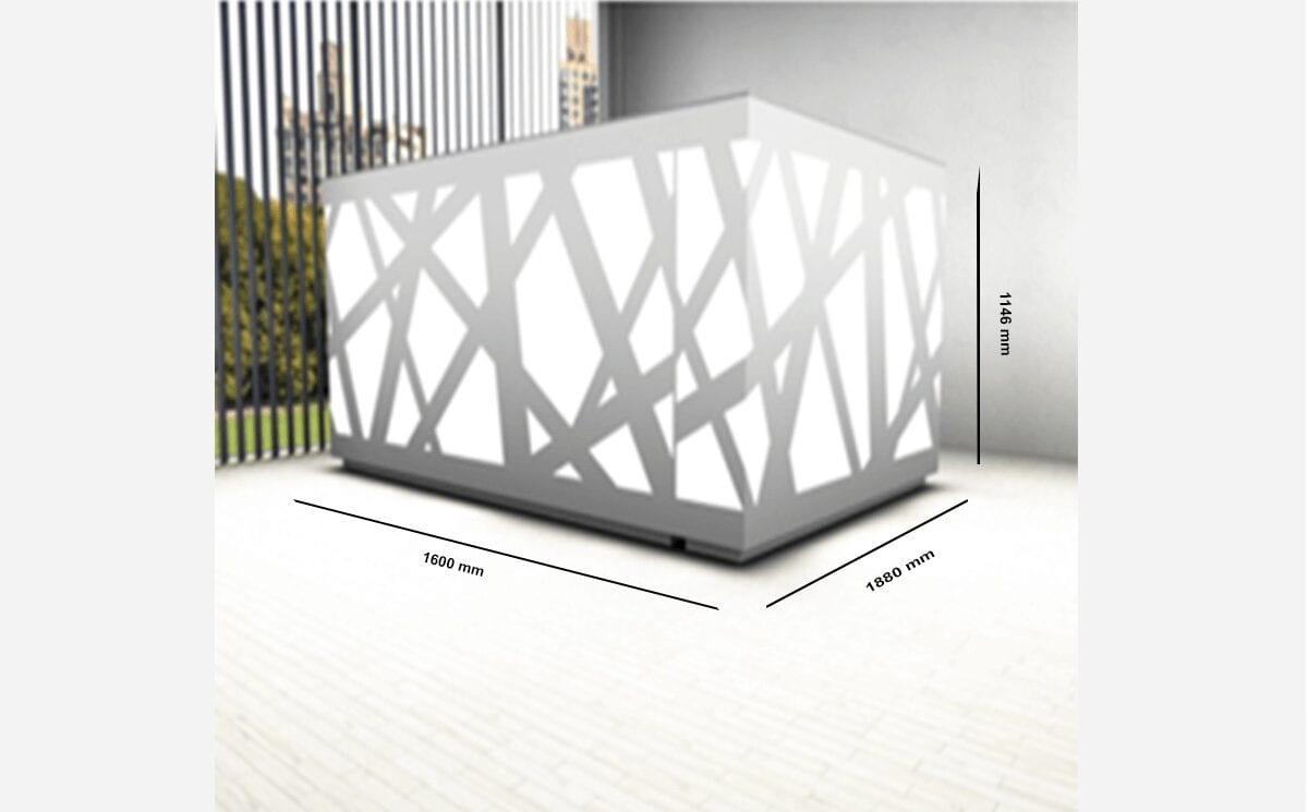 Renzo – L-Shaped Reception Desk with Return
