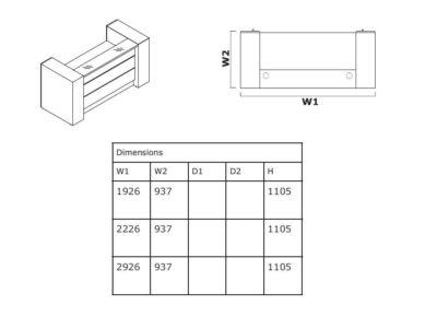 Size Alba 4 – Modern Lacquered Reception Desk