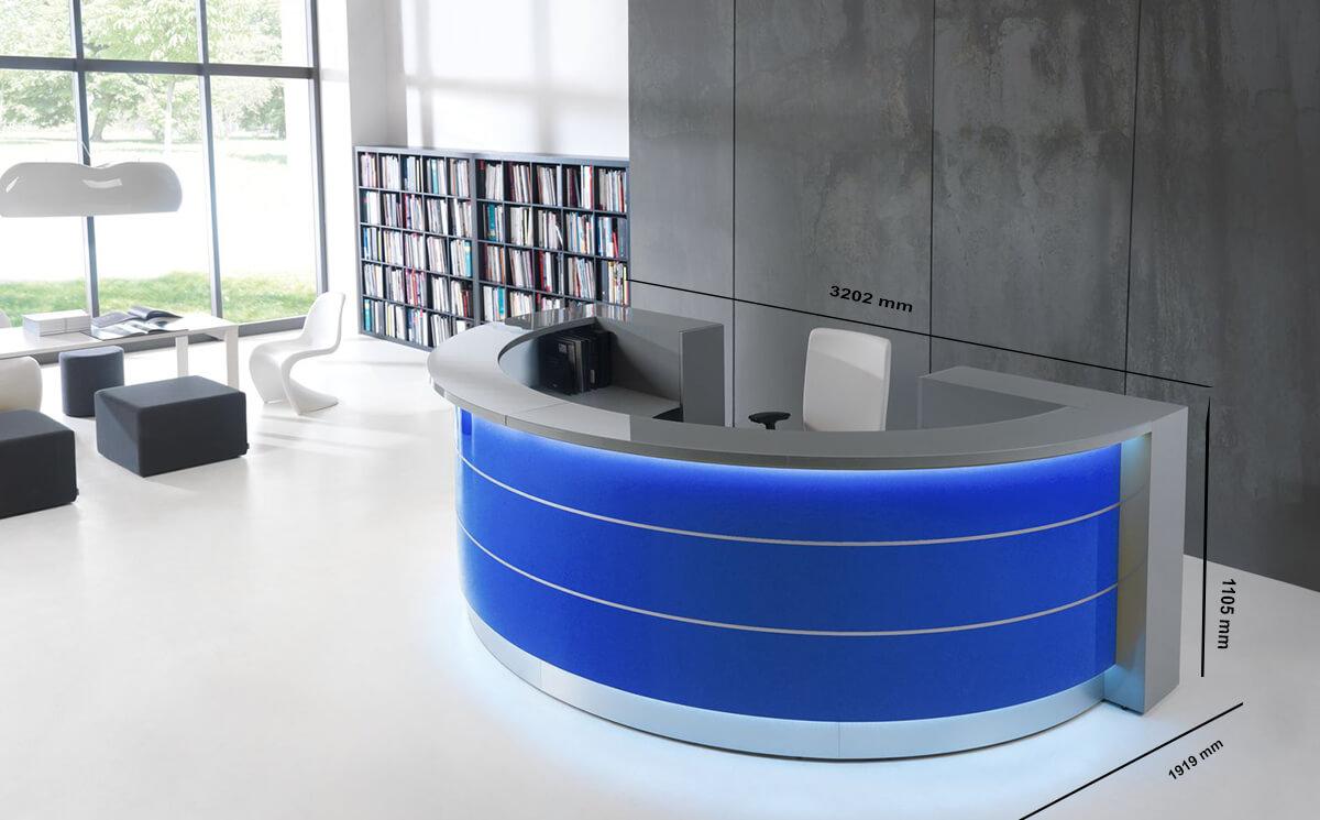 Size Alba 6 – Round Reception Desk