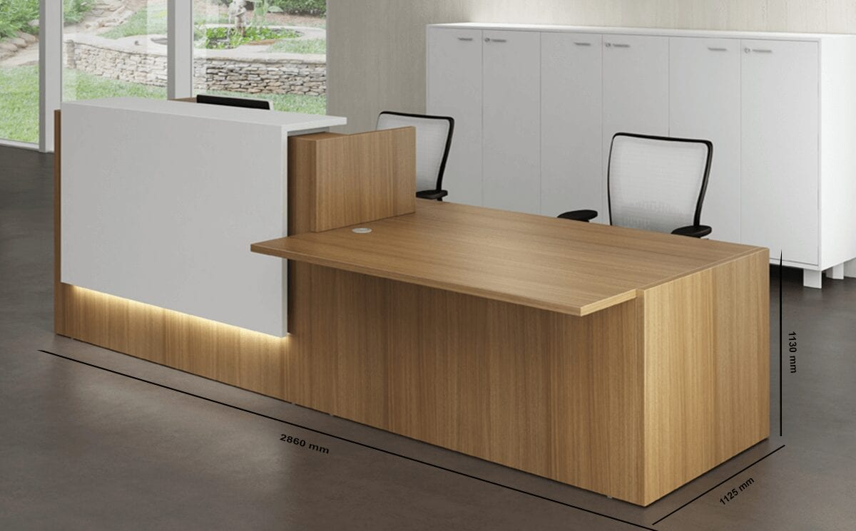 Nero 1 - Reception Desk with Left DDA Approved Wheelchair Access