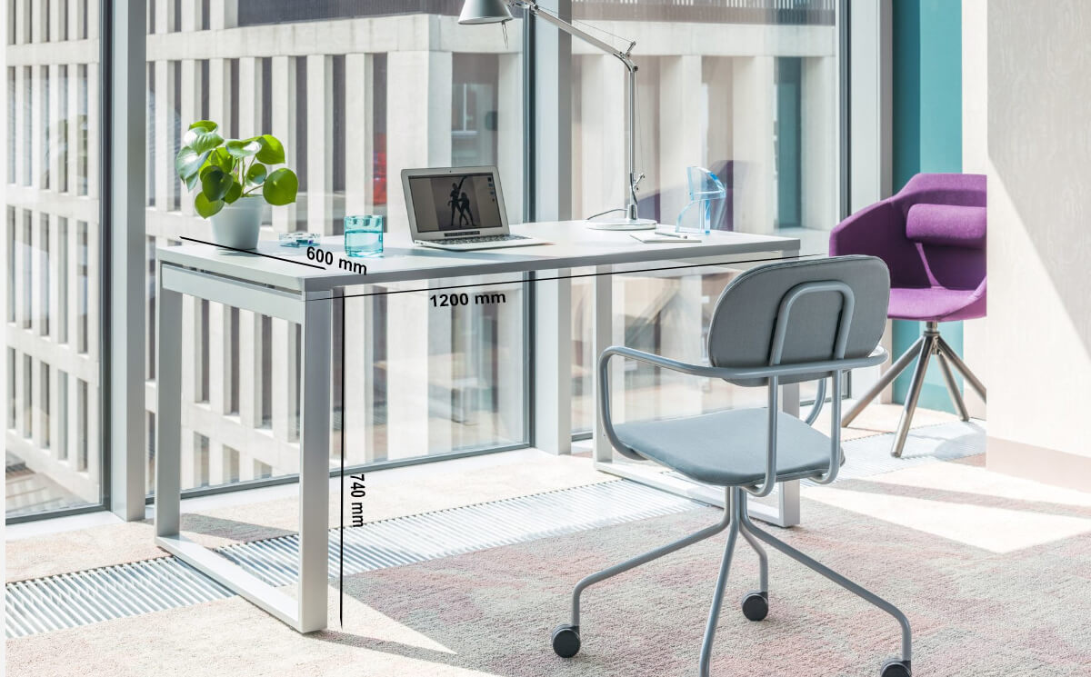 Size Bella – Office Desk With Ring Leg