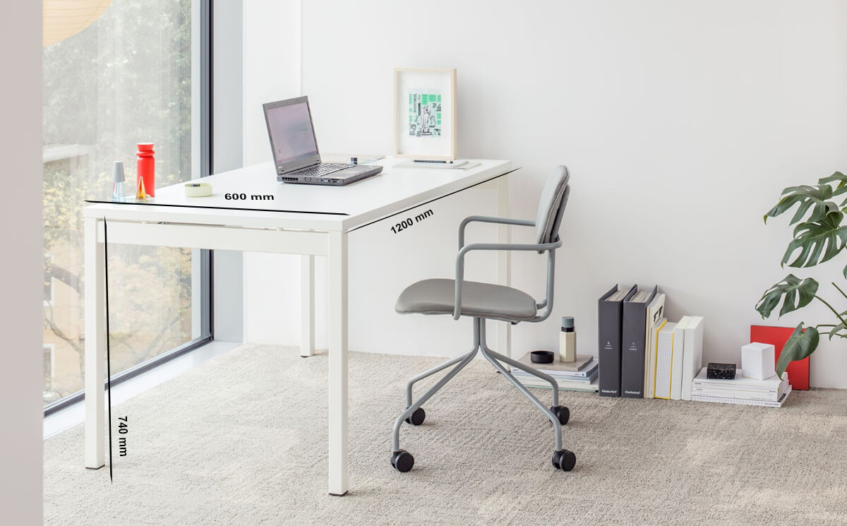 Size Bloom – Operational Office Desk With Cable Tidy