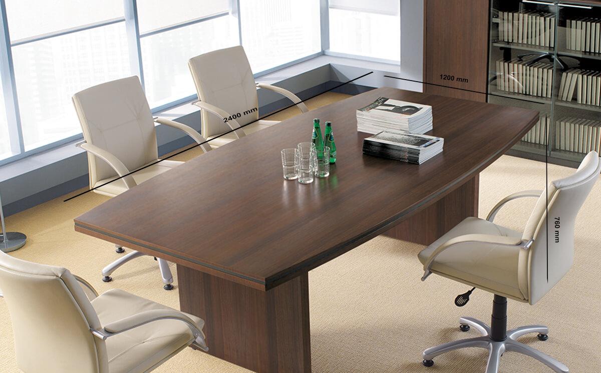 Size Chalk – Barrel Shaped Boardroom Table