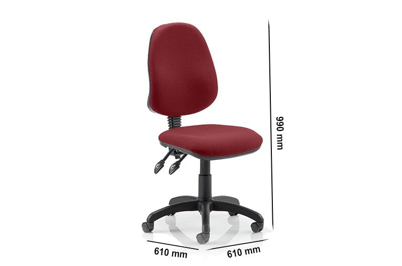 Esme 2 – Multicolour Operator Task Chair without Arms