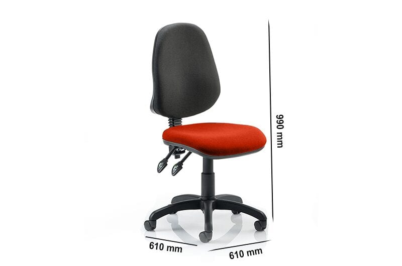 Esme 2  - Operator Task Chair without Arms in Multicolour