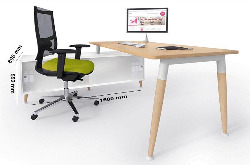 Cora – Wood Rectangle Operational Office Desk Range