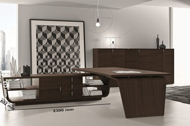 Oxford Curved Wooden Executive Desk