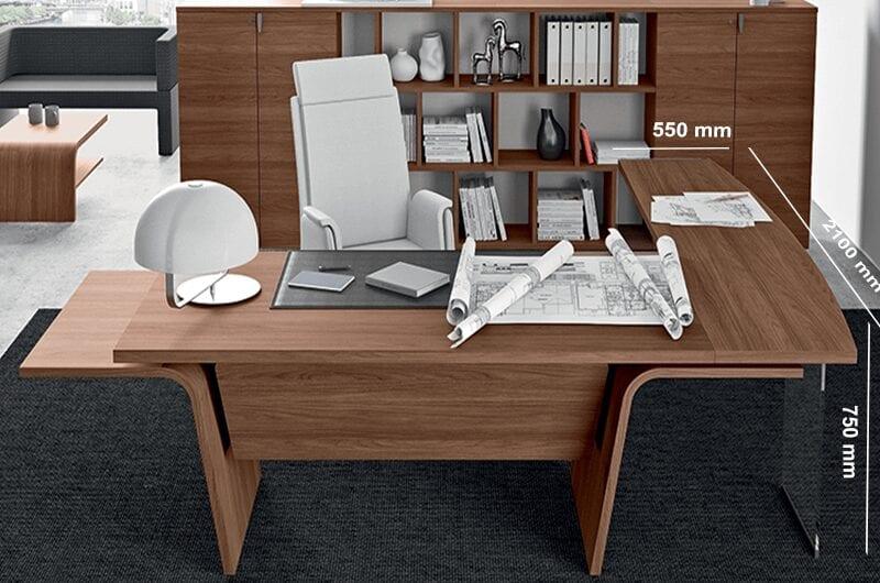 Oxford 4 – Wooden L-Shaped Executive Desk