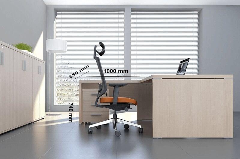 Pietro - Wood finish executive desk