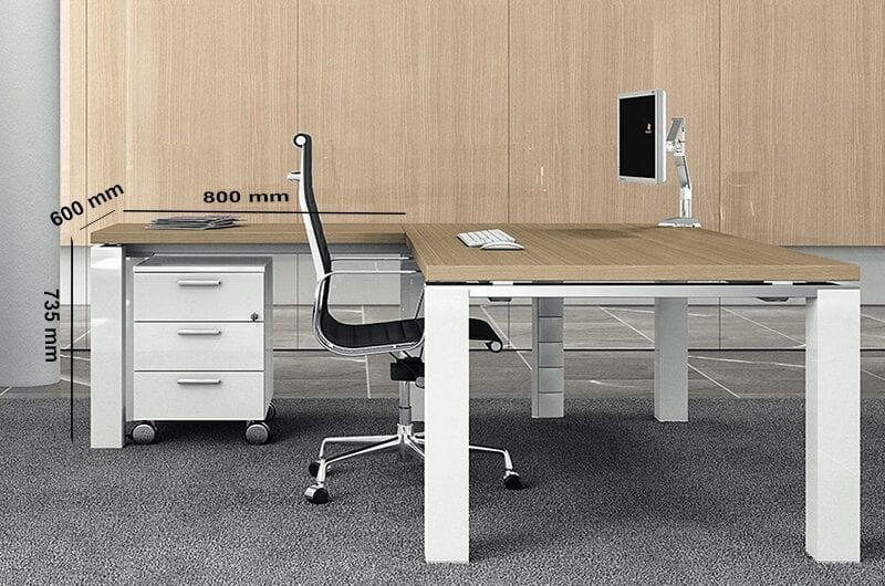 Kingsley – Straight U-Leg Executive Desk