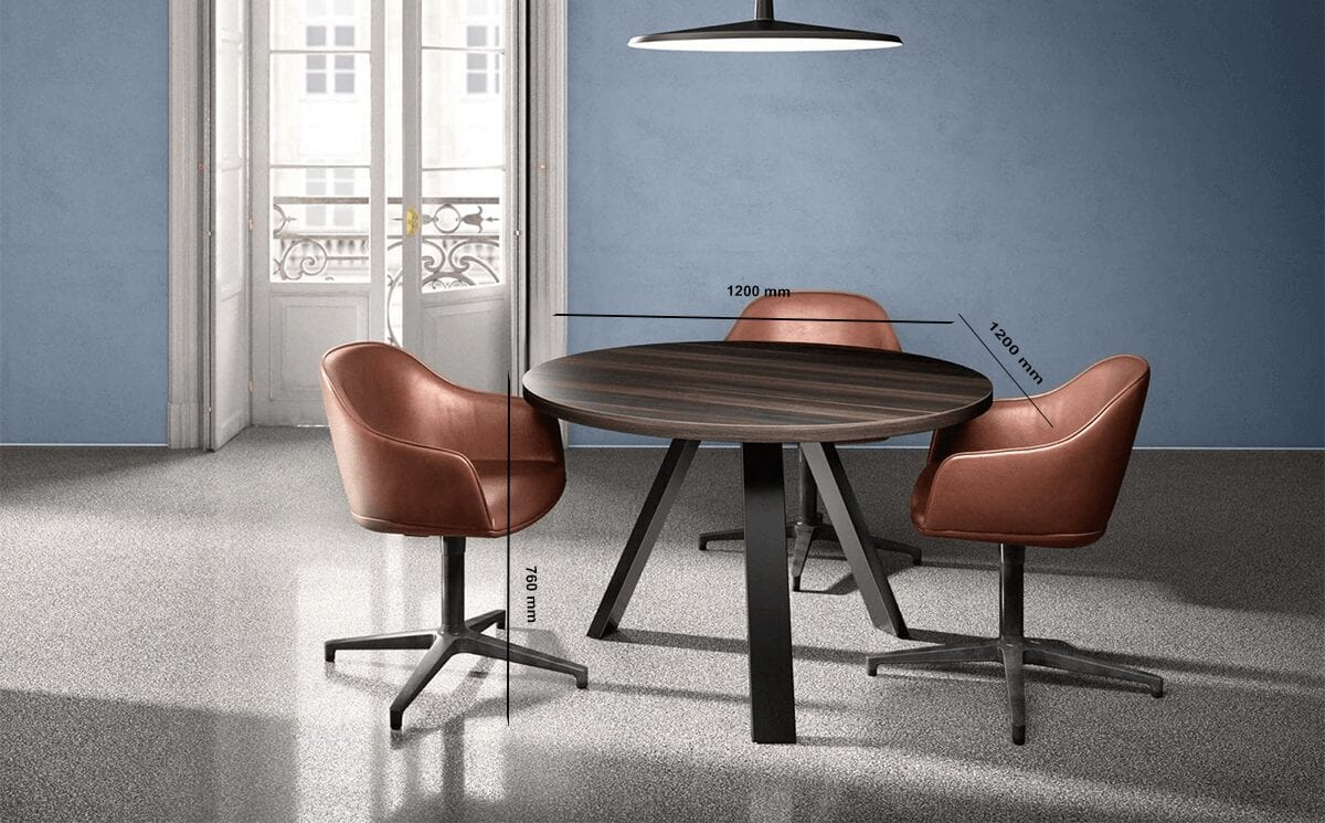 Nora – K-Leg Round Meeting Table