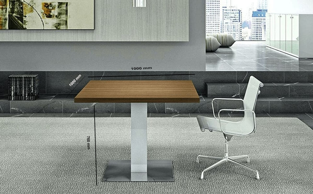 Size Hugo – Square Top Meeting Table