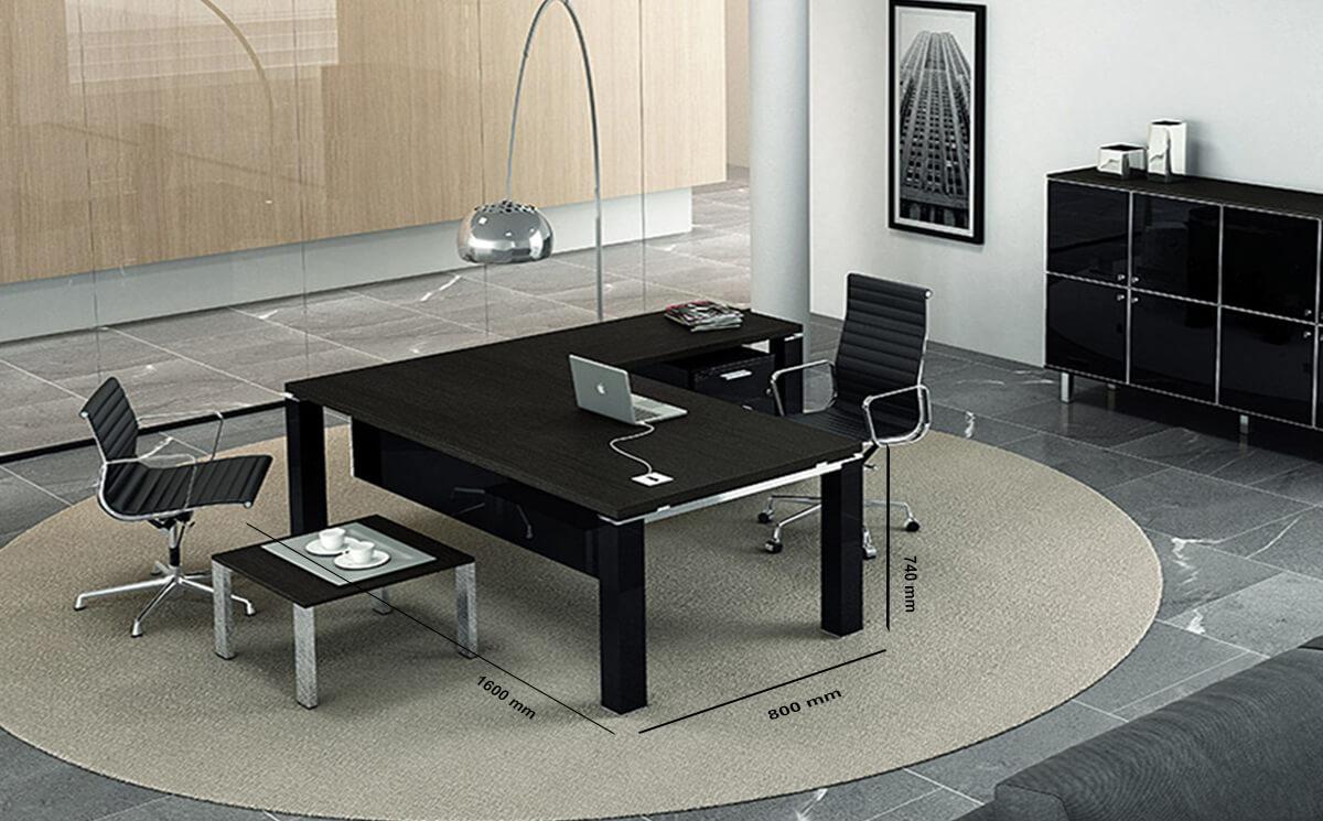 Size Kingsley – Straight U Leg Executive Desk With Optional Return