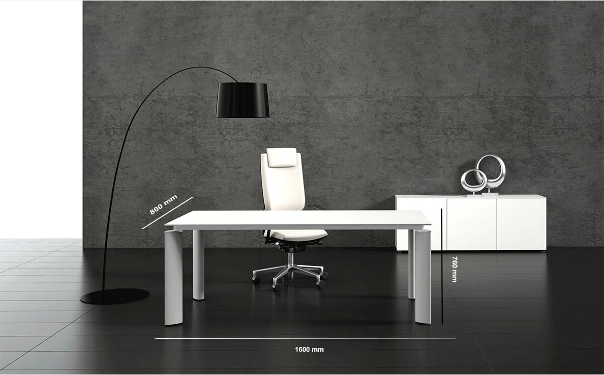 Reve – Solid Executive Desk with Optional Return
