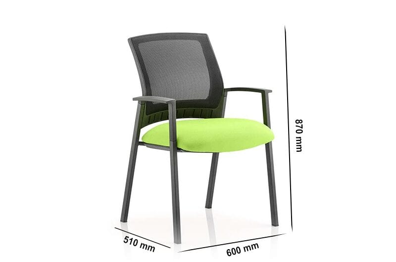 Posto – Visitor Chair with Black Mesh Back and Arms