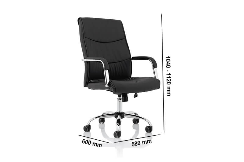 Size Nova – Faux Leather Task Operator Chair With Arms