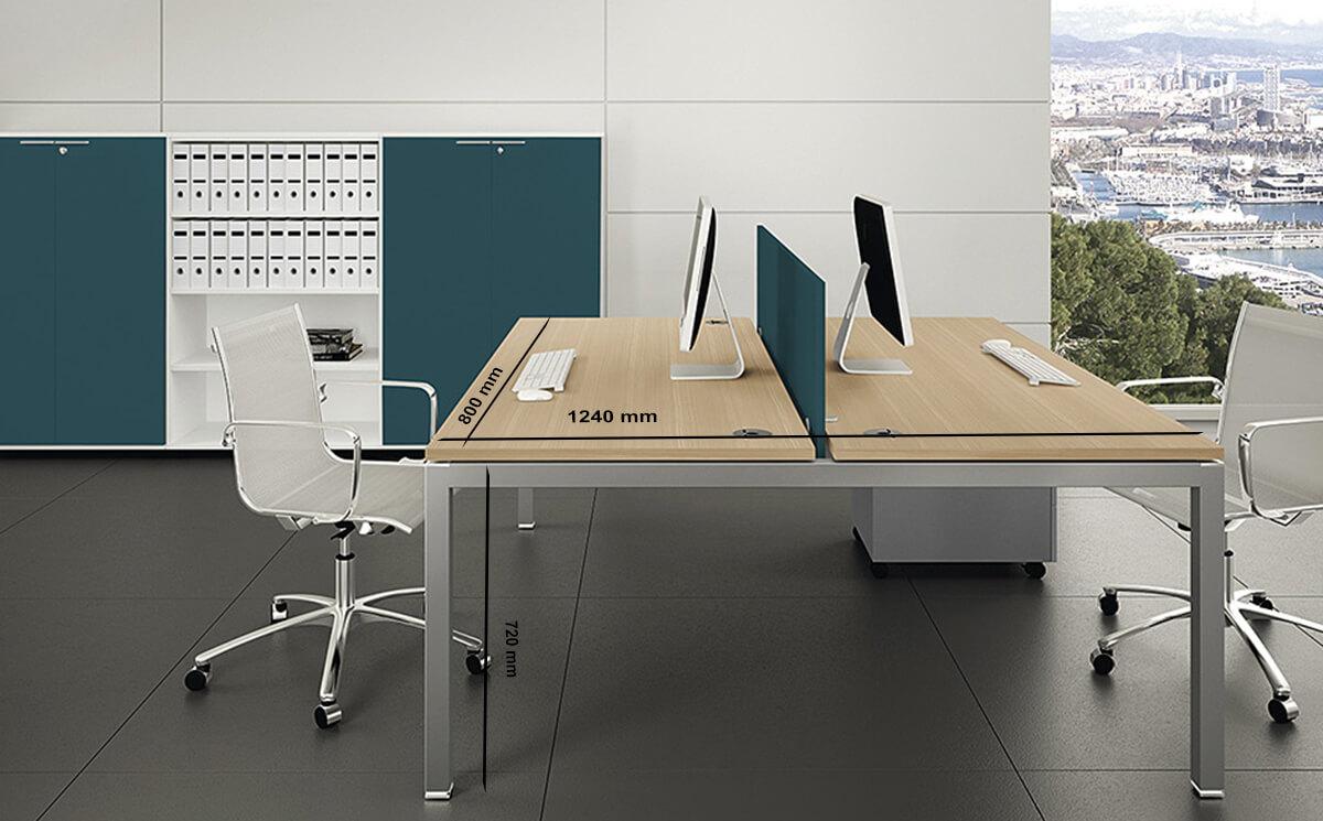 Size Quinn – Straight Operator Office Desk