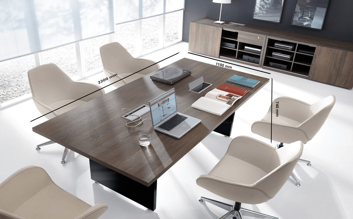 Cove – Rectangle Meeting Table in Robinia