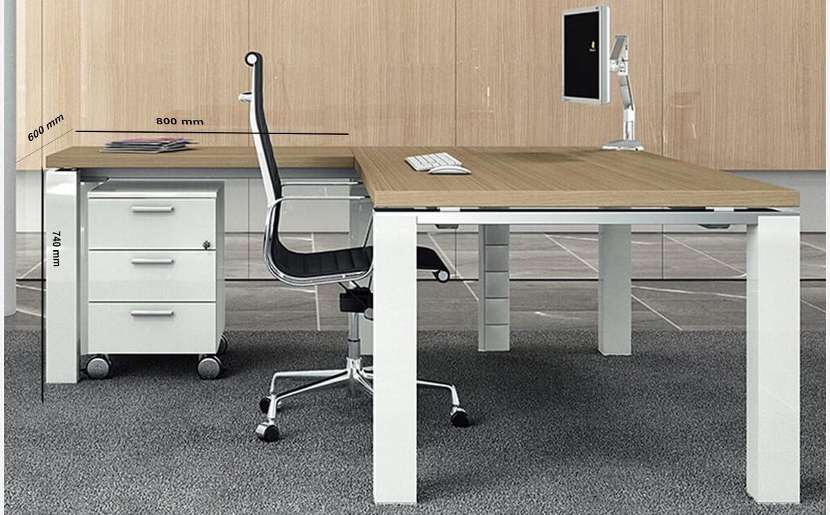 Size Return Kingsley – Straight U Leg Executive Desk With Optional Return
