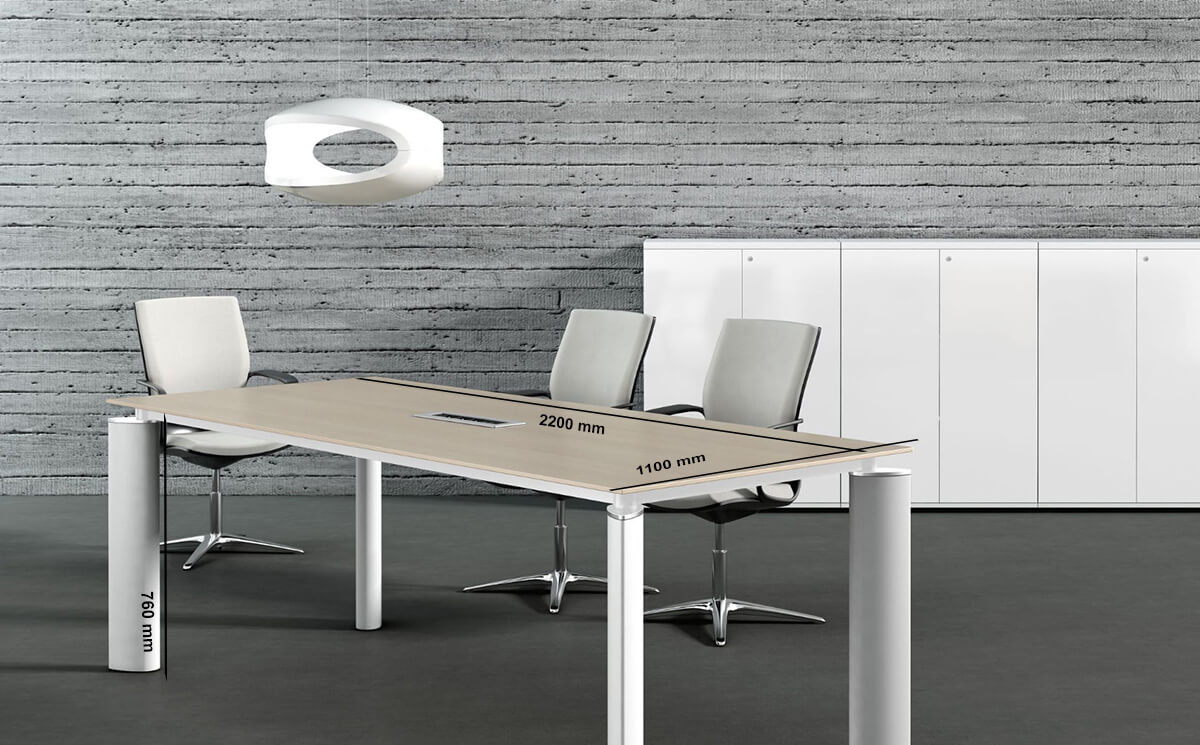 Size Reve – Boardroom Desk With White Legs