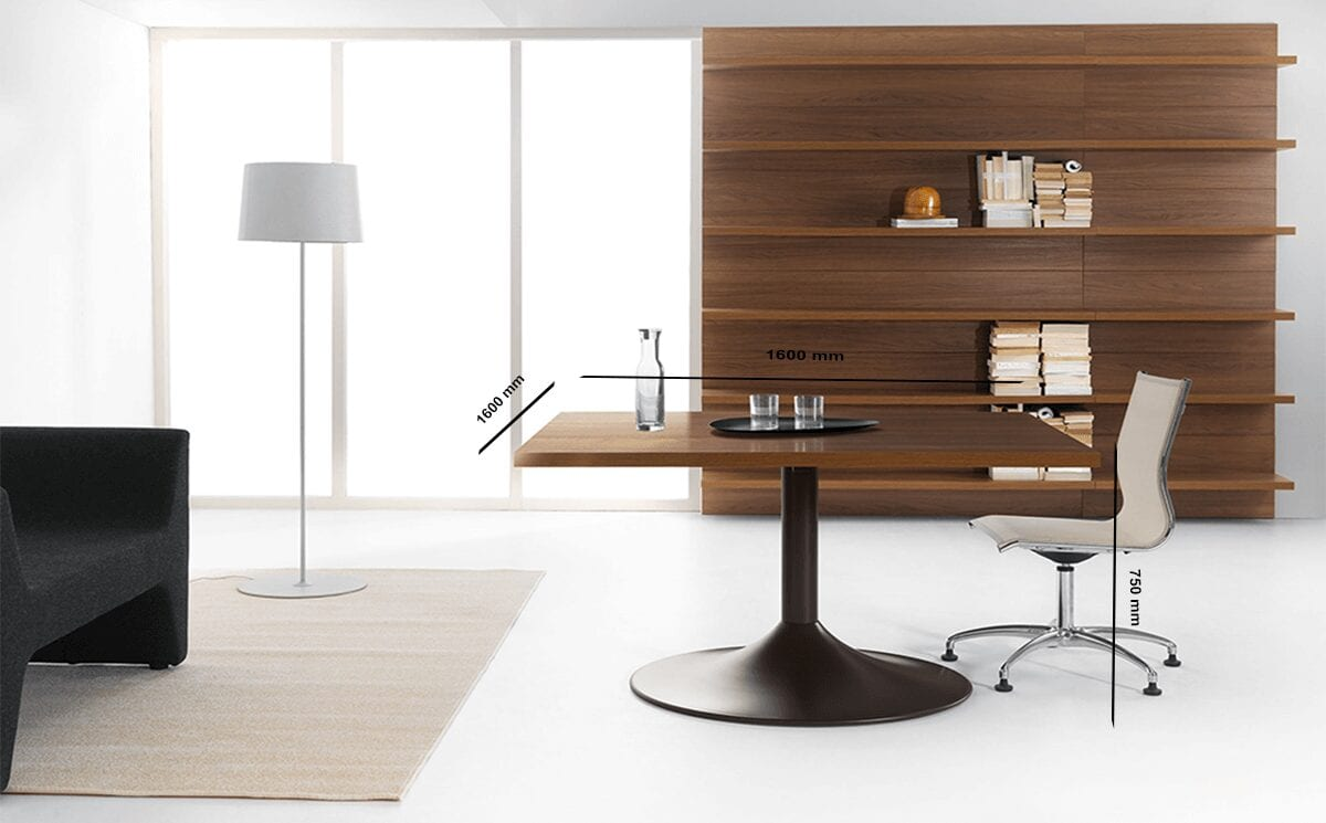 Rose – Square Wood Finish Meeting Table