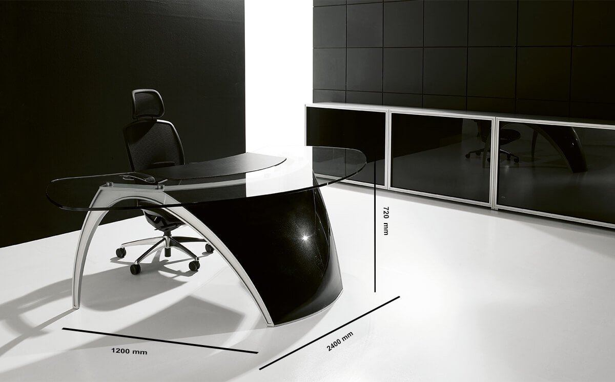 Size Suno – Reception Desk With Leather Finishes