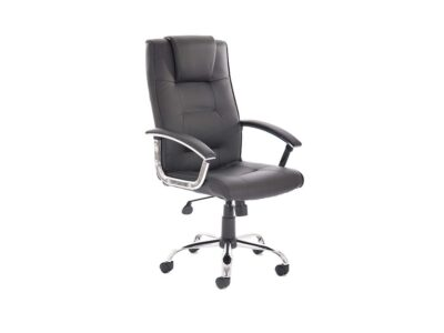 Bastian – Black Bonded Leather Executive Chair