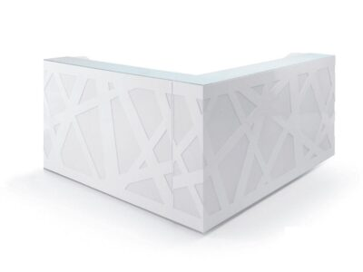 Renzo – White Reception Desk with Remote Controlled Lights